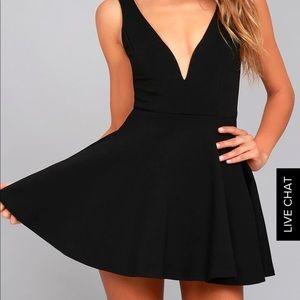 I Feel Good Black Lulu's Skort Dress